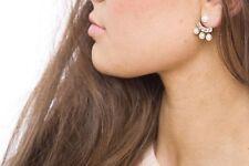 Earrings Women Ear Stud Fashion Spring Pearl & Diamonte Arch Swing Jewelry Gifts