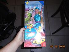 1999 NIB Toy Story 2 Barbie Doll w Finger Puppets Woody Buzz Lightyear