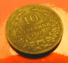 10 stotinchi стотинки CENTESIMI Bulgari 1917 CENTESIMI BULGARO BULGARIAN CENT b