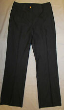 ST JOHN COLLECTION MARIE  GRAY pinstripe charcoal gray  trousers career pants 8