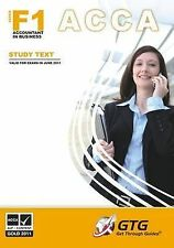 ACCA - F1 Accountant in Business : STUDY TEXT, Get Through Guides, Good, Paperba