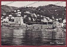 GENOVA RECCO 25 Frazione MULINETTI Cartolina FOTOGRAFICA viaggiata 1960