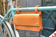 Leather Pattern bike bag BXK-11 Leather tool leather supply bicycle bag