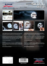 HARDER & STEENBECK AIRBRUSH STENCILS - SKULL SET 2