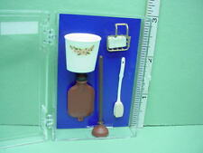 Dollhouse Miniature Bathroom Accessories Set - Chrysnbon #CB48- 1/12th Scale