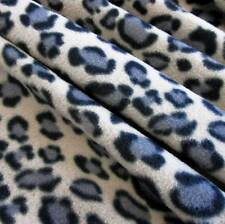 Stoff Meterware Polar Fleece Leopard beige knitterfrei grau meliert animal print