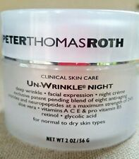 Peter Thomas Roth Un-Wrinkle Night Cream Luxury Size 2 oz NEW Fresh -read*