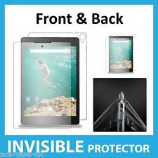 Google Nexus 9 INVISIBLE Screen Protector Shield FULL FRONT AND BACK Guards Inc