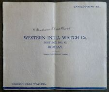 Western India Watch Co. 1930s-40s illustrated catalogue 16pgs