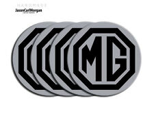 MG ZR ZS ZT Wheel Centre Caps Badges Black Silver 80mm MG Logo Cap Badge Set