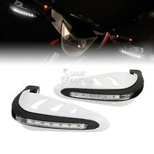 White Handguard LED Turn Signals For Suzuki DR DR-Z RM RMX 125 200 250 350 80