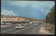 Postcard KINGMAN Arizona/AZ RT ROUTE 66 Drug Store & Business Storefronts 1950's