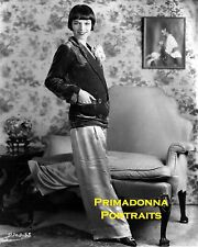 LOUISE BROOKS 8x10 Lab Photo Sexy CAREER PANTSUIT Menswear RARE Portrait 1920s