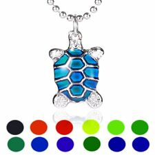 Turtle Sensitive Liquid Stone Thermo Mood Changing Color Pendant Necklace