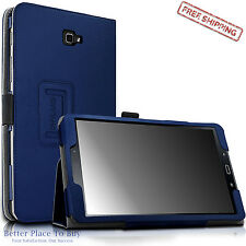 For Samsung Galaxy Tab A 10.1 Stand Folio Case Cover Tablet SM-T580 T585 Navy