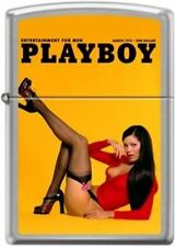 Zippo Playboy March 1974 Cover Street Chrome Windproof Lighter NEW RARE