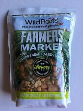 4 X 24 oz Wild Roots Farmers Market Savory Snack Mix Beans, Seeds, & nuts