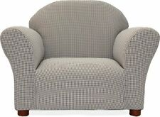 NEW & SEALED! Fantasy Furniture Roundy Chair Gingham, Brown (For Kids)