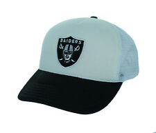 New! Oakland Raiders Adjustable Snap Back Hat Mesh Back Embroidered Cap - White