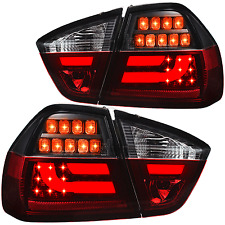 LED Lightbar Rückleuchten Set BMW 3er E90 Limousine Bj. 05-08 rot smoke