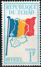 Tchad African Country Map Flag stamp 1960 MH