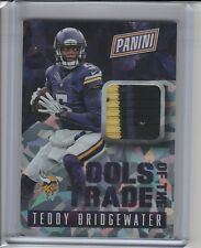 2015 Panini National Convention Teddy Bridgewater CRACKED ICE 3 COLOR PATCH RARE