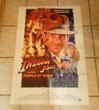 1984 Indiana Jones and the Temple of Doom Original One-Sheet Poster 27x40 FN+