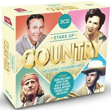 STARS OF COUNTRY 3 CD NEU BOX-SET HANK WILLIAMS/JIMMI ROGERS/EDDY ARNOLD