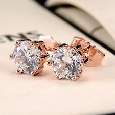 Luxury 18k Rose Gold Filled Women Earrings wedding earstud Fashion Jewelry