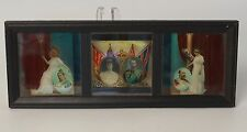 3 Queen Victoria Era Magic Lantern Slides Mounted for Hanging British Royalty
