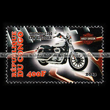 ★ HARLEY DAVIDSON XL 1200 SPORTSTER LOW ★ CONGO Timbre Moto Motorrad Stamp #159