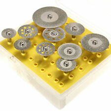10p~Diamond Saw Cut Off Discs Wheel Blades Rotary Tool Set 1/8 Shank for