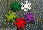 Set of 6❄Felt Snowflakes❄Christmas❄Snowflake❄Tree Decorations❄Frozen❄Gift Tags