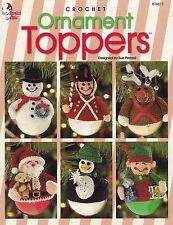 Ornament Toppers, Annie's Christmas Decor Crochet Pattern Booklet 874811 RARE
