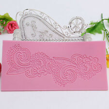 Lace Silicone Mold Mould Sugar Craft Fondant Mat Cake Decorating Baking Tool QH