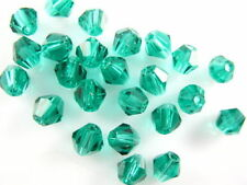 Bulk 30pcs Peacock Green Glass Crystal Faceted Bicone Beads 8mm Spacer Findings