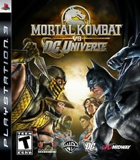 Mortal Kombat Vs. DC Universe PS3 Great Condition Complete Fast Shipping