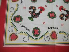 small TABLECLOTH Portuguese BARCELOS ROOSTER weddings GOOD LUCK CHARM ships FREE