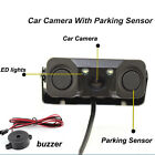 2 LED Car Rear View Reversing Backup Night Vision Camera w/ 2 Parking Sensors