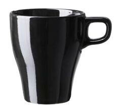 Ikea Fargrik Mug set of 6, Black, 25cl Brand New