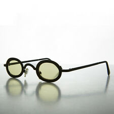 Oval Victorian Steampunk Spectacle Sunglass with Color Lenses NOS Yellow-DESERT