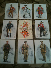 Set x 9 Military Postcards Duke of Wellingtons Regiment West Riding Alix Baker