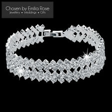 Bridesmaid Crystal Rhinestone Tennis Bracelet Wedding Bridal Jewelry Jewellery
