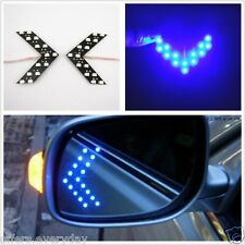 2 Pcs Blue Arrow Indicator 14SMD LED Car Side Mirror Turn Signal Light