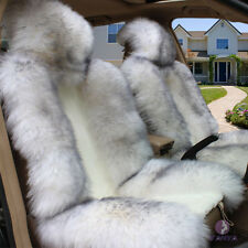 Winter Front Car Cushion Sheepskin Long Wool Car Seat Cover For Car Cushions New