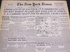 1944 JUNE 17 NEW YORK TIMES - AMERICANS IN ST. SAUVEUR - NT 4336