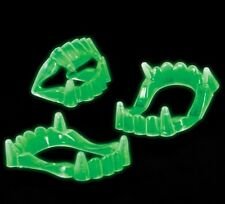 12 GLOW IN THE DARK VAMPIRE TEETH FANGS CHILDREN HALLOWEEN DRACULA PARTY COSTUME