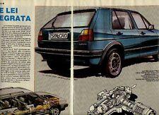 W28 Ritaglio Clipping 1985 Volkswagen Golf 4x4 integrale