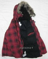 Thick Ralph Lauren Denim Supply Red Check Snorkel Down  Coat jacket Parka 2XL