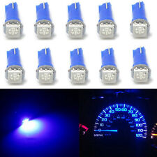 10pcs T5 70 73 74 Wedge Ultra Blue 1-SMD Car LED Dashboard Lights Gauge Cluster